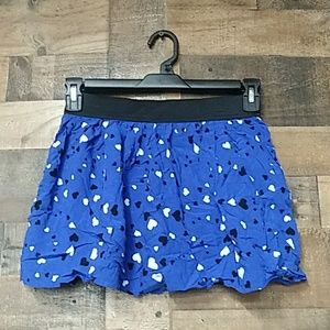 Faded glory multicolored skort with hearts L